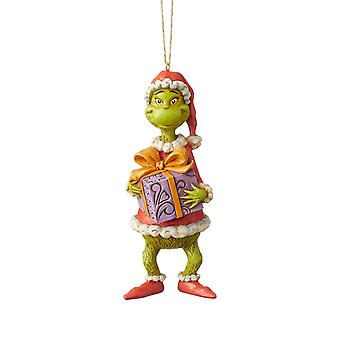 Ornament - Dr. Seuss - Grinch and Present 4.92