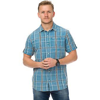 Tier Säbel Kurzarm Shirt in Türkis