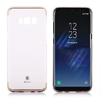 Hull For Samsung Galaxy S8 Transparent Golden Contour