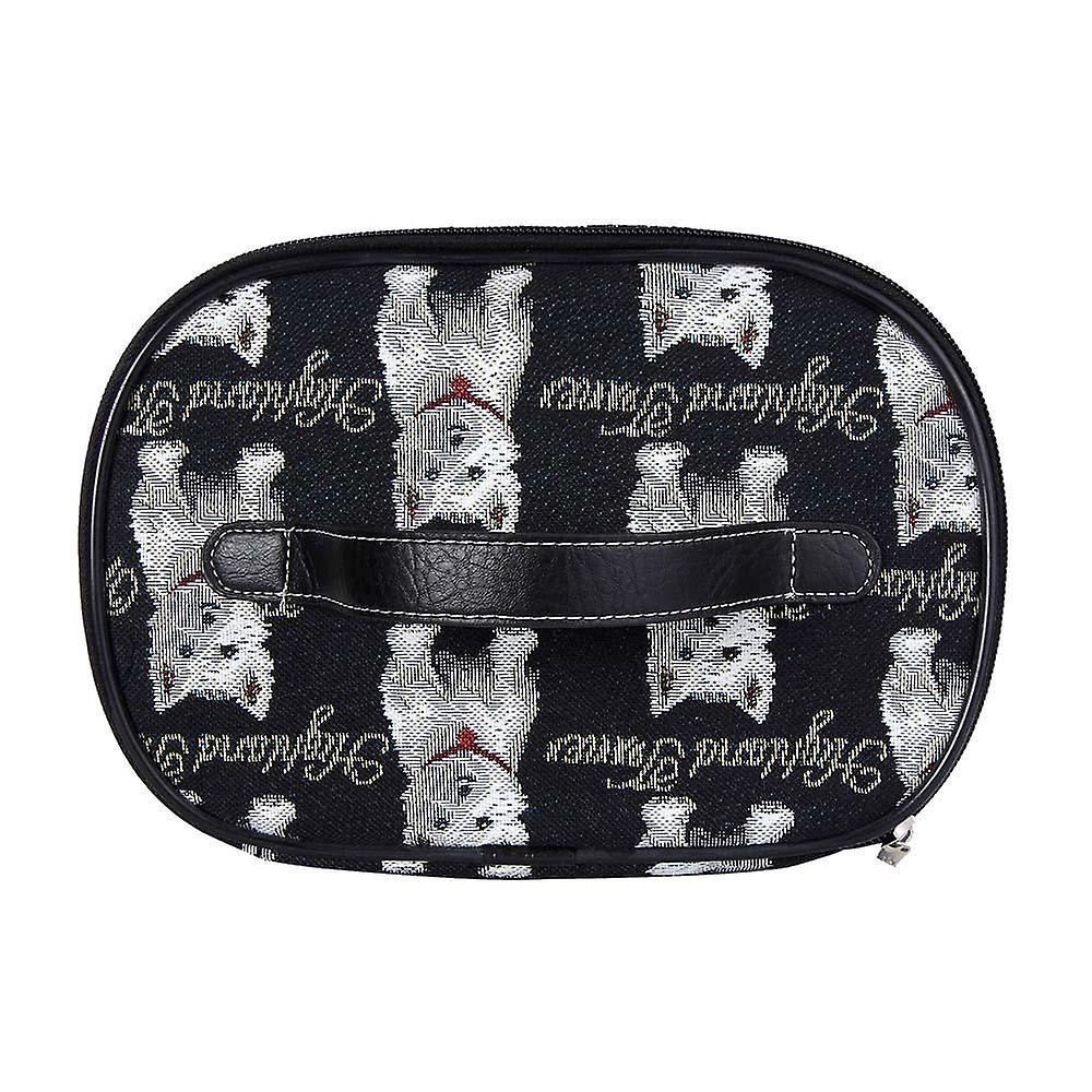 Westie women's makeup bag by signare tapestry / toil-wes