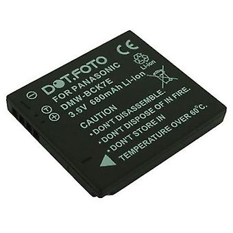 Dot.Foto Panasonic DMW-BCK7, Kilpailuviranomainen YN101F vara-akku - 3.6V / 680mAh