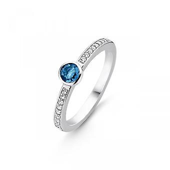 Ti Sento Indigo eksponeringer ring 12108DB-sølv ring blå sten mørkt sæt lukket Pav e kvinder