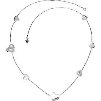 Halsband och hänge antar UBN11434 - halsband och hängande halsband hjärtan silver kvinna