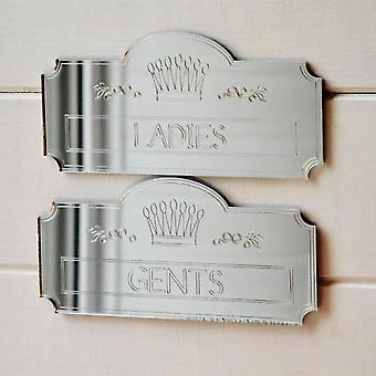 Ladies and Gents Crown Plaque Toilet Door Sign