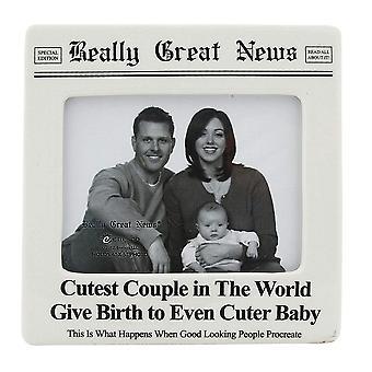 Virkelig gode nyheder sødeste par nogensinde cuter baby 4 X 5 fotoramme
