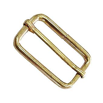 38mm Metal Gold Triglide Slider Buckle