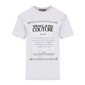 Versace Jeans Couture Cotton Printed Logo White T-shirt
