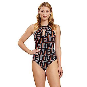 Rösch 1205504-16566 Women's Love Ringlet Grey Swimsuit