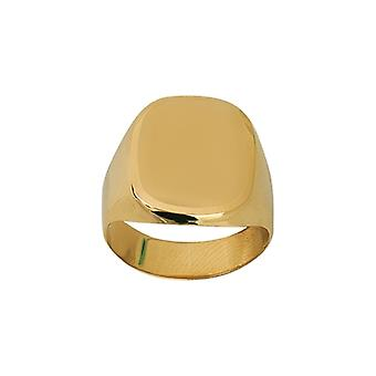 14k Yellow Gold Signet Engravable Ring Jewelry Gifts for Women - Ring Size: 6 to 9