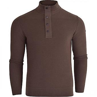 Duck and Cover Duck And Cover Mens 1/4 Zip Jumper Cotton Button Front Knitwear Top Concealed Zip