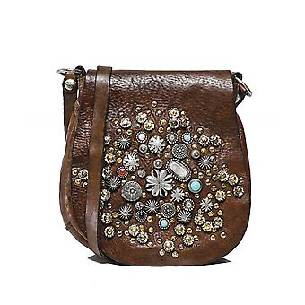 Campomaggi Embellished Leather Saddle Bag