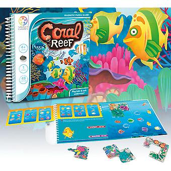 SmartGames Coral Reef Magnetic Puzzle Travel Game One Player Ages 4 Years+