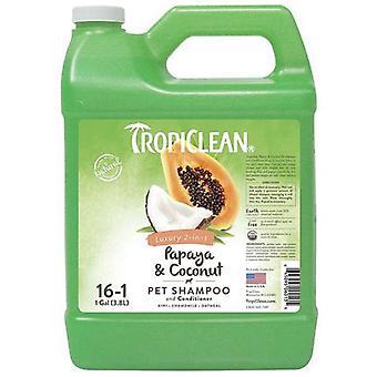 TropiClean Champú Papaya y Coco 3,78 L (Perros , Higiene y peluquería , Champús)