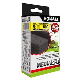 Aquael Recambio Esponja Filtro Unifilter-500 Y Uv (3 Uni)