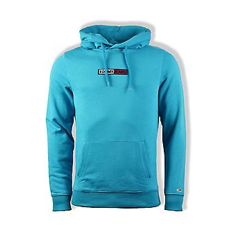 Tommy Jeans Embroidered Box Hoody (Exotic Teal)