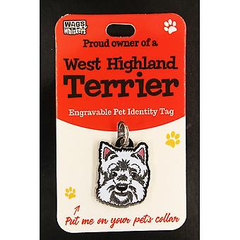 Wags & Whiskers Pet Identity Tag - West Highland Terrier