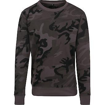 Cotton Addict Mens Camo Crew Neck Slim Fit Sweatshirt