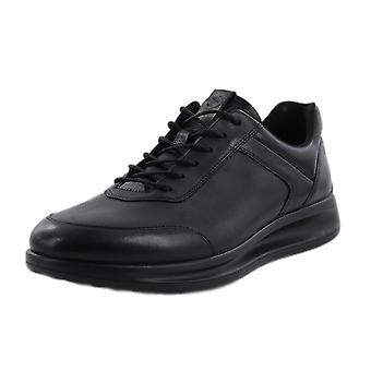 ECCO 207124 Aquet Men's Lace-up Leather Trainers In Black