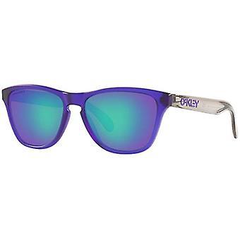 Oakley Youth Boy's OJ9006 Frogskins XS Round Sunglasses, Matte Translucent Purple/Prizm Sapphire, 53 mm