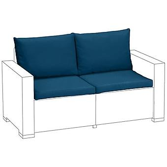 Blauwe 4PC zitkussen set voor Keter Allibert California 2 zits sofa