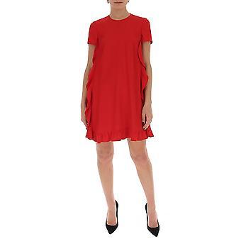 Red Valentino Tr0vaq650f148x Women's Red Cotton Dress