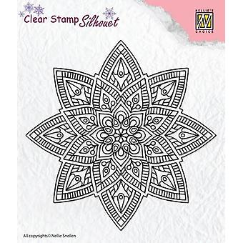 Nellie-apos;s Choice Silhouette Clear Stamps Mandala 2 SIL040 62x25mm