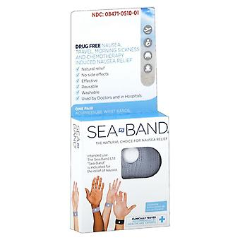 Sea-band nausea relief accupressure wristbands, 1 pair