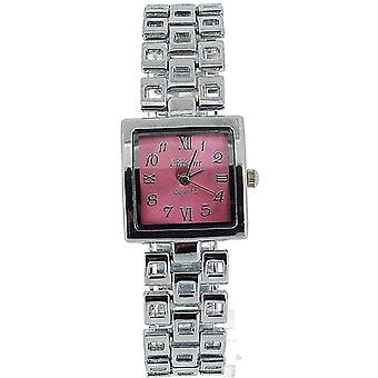 Die Olivia Collection Damen Square Rosa Zifferblatt Armband Strap Dress Watch COS15