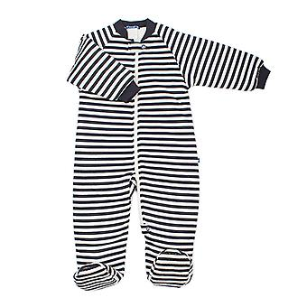 uh-oh! Baby Sleeping Bag with Legs 3.0 tog Warmth Rating Navy Blue Stripe