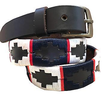 carlos diaz kids unisex  brown leather  polo belt cdcpb55
