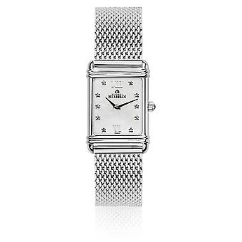 Michel Herbelin naisten Esprit Art Deco Steel Mesh äiti Pearl Dial 17478/59BM Watch