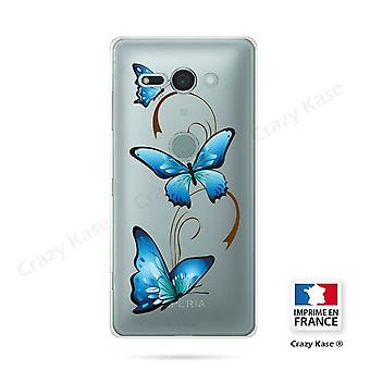 Hull For Sony Xperia Xz2 Compact Soft Butterfly Pattern On Arabesque