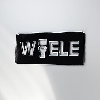 HAVAIANO banheiro exclusivo faltando 'Um' sinal de porta em acrílico espelhado de WAELE