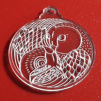 6PKヤンフクロウクリアアクリルクリスマスの装飾