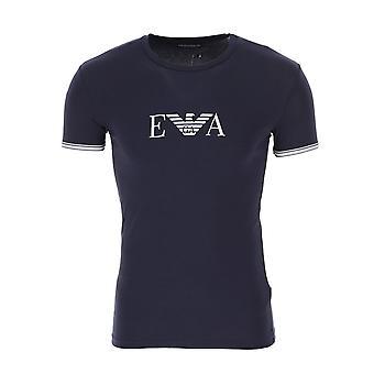 EA7 Emporio Armani Ea7 | Emporio Armani 111035 0p523 Crew Neck Logo Half Sleeve T-shirt - Navy