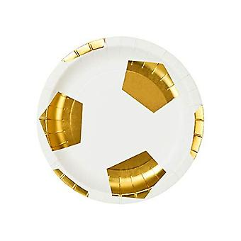Football Party Champions Paper Party Plates x 12