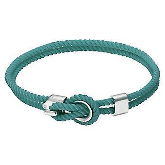 Rochet B3204033 pulsera - marinero de acero y cordón algodón turquesa mujeres
