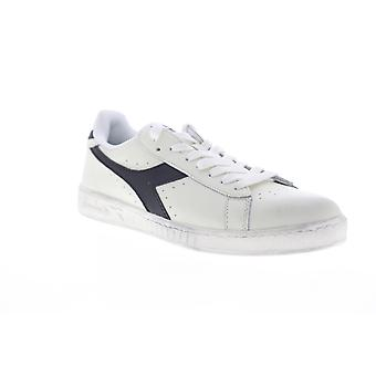 Diadora Game L Low Waxed  Mens White Leather Low Top Sneakers Shoes