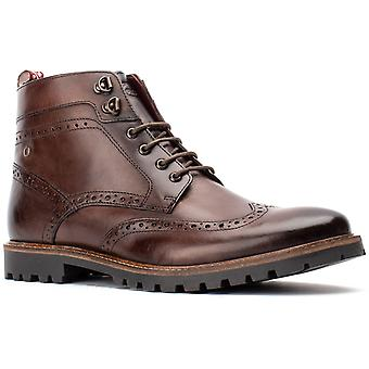 Base Londra Mens Bower Lavato Pizzo Up Boot Brown