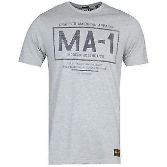 MA-1 F35 Logo Print Grey T-Shirt