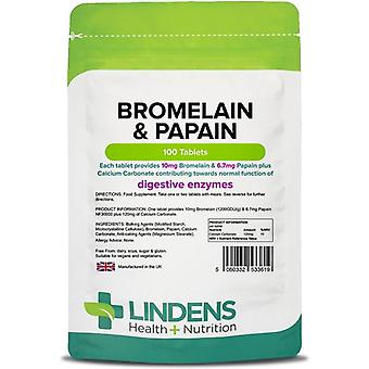 Lindens Bromelain & Papain Tablets 100 (3619)