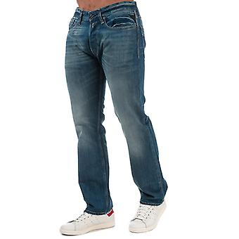 Men's Replay Newbill Comfort Fit Jeans in Blue