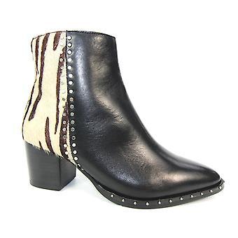 Lunar Odette Leather Tiger Print Boot