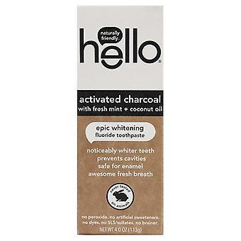 Merhaba Aktif Kömür Taze Nane + Hindistan cevizi yağı Florürlü Diş Macunu