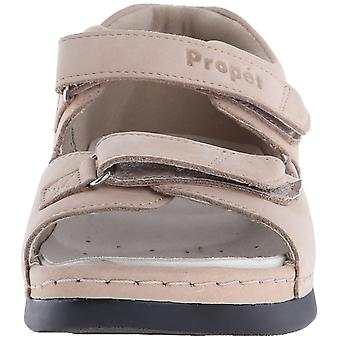 Propét Womens Pedic Leather Open Toe Casual Ankle Strap Sandals