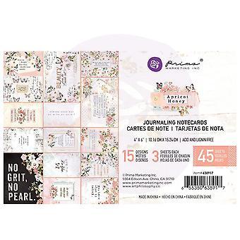 Prima markedsføring aprikos honning 4x6 tommers journalkort