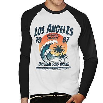 Londres Banter los Angeles original surf Men ' s baseball manga comprida T-shirt