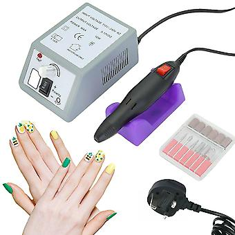 Professional Electric Manicure Machine Kit With Acrylic Nail Art File Drill Set