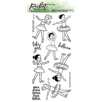 Picket Fence Studios BFF Ballerina Przyjaciele Jasne znaczki