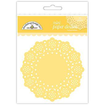 Doodlebug Design Bumblebee Mini Doilies (75kpl) (4600)